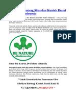 Informasi Tentang Situs Dan Kontak Resmi de Nature Indonesia
