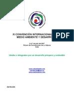 1ra. Circular XI Convención Internacional Medio Ambiente y Desarrollo