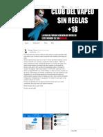 Club Del Vapeo Sin Reglas