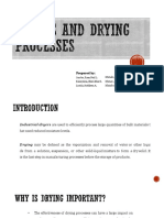 Dryers and Drying Processes