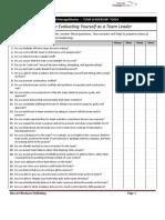 Teamleader Checklist