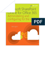 Microsoft SharePoint Online for Office 365 Administering and Configuring for the Cloud 1st Edition 2015 {PRG}