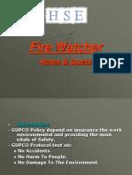 Fire Watcher Presentation