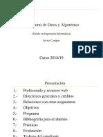 Estructuras de datos y algoritmos.