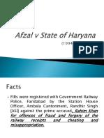 Afzal vs Sate of Haryana