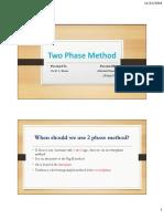 Two Phase Method