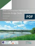 CBDG TG 14 - Best Construction Methods for Concrete Bridge Decks - Cost Data