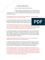 Identifying Sampling Methods Worksheet