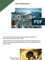 Pleistocene Glaciation