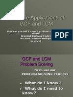 Real Life Applications OfGCF and LCM (1)