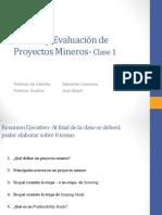 Clase 1 Proyectos Mineros