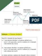 aplicação derivadas