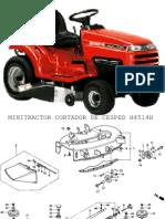 Mini Tractor Cortador de Cesped h4514h
