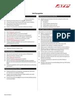 Solo Checklist