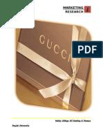 Gucci's marketing project by SHAZI