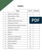 Database Administrator File MCA Semester 3