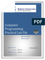 Computer programming c++  solved labs