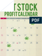 Pot Stock Profit Calendar