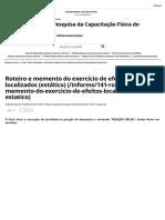 Instituto de Pesquisa Da Capacitação Física Do Exército - Roteiro e Memento Do Exercício de Efeitos Localizados (Estático)