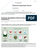 Instituto de Pesquisa Da Capacitação Física Do Exército - Síndrome Metabólica