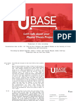 U-BASE CCB - Let's Talk About Your Master Thesis Project - Transcript