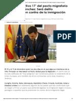 Así Es El 'Objetivo 17' Del Pacto Migratorio Que Firmará Sánchez_ Será Delito Rechazar La Inmigración Ilegal