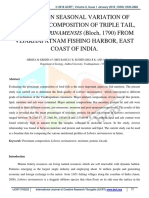 A Study on Seasonal Variation of Proximate Composition of Triple Tail, Lobotes Surinamensis (Bloch, 1790) From Visakhapatnam Fishing Harbor, East Coast of India