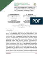 PHYTO PLANKTON BIO-DIVERSITY IN TIGER SHRIMP (Penaeus monodon) CULTURED POND UNDER NATURAL CONDITIONS AT BHEEMILI, VISAKHAPATNAM