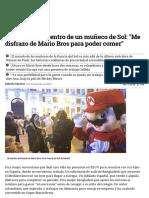La Vida Oculta Dentro de Un Muñeco de Sol_ _Me Disfrazo de Mario Bros Para Poder Comer