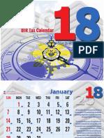 2018 Bir Tax Calendar