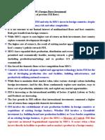 FDI as Strategy