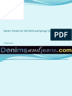 Denim Trends in Fabric , Styles and Finishing for Fall 2010 and Spring Summer 2011