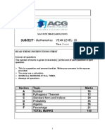 Year 10 Sample Exam Paper
