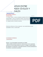 Diferencias Entre Sociedades Civiles y Comerciales