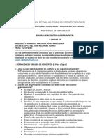 Examen de La II Unidad de Auditoría Gubernamental p