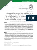 Actitud Etica en Residentes de Anestesiologia