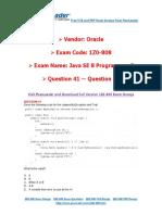PassLeader 1Z0-808 Exam Dumps (41-60)
