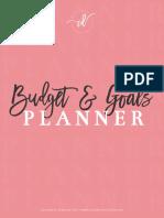 Budget Goals Printable Planner CD