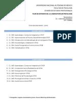 ASignaturAs UNAM Psicología