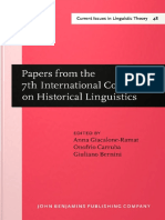 (Current Issues in Linguistic Theory 48) Anna Giacalone Ramat, Onofrio Carruba, Giuliano Bernini (Eds.)-Papers From the 7th International Conference on Historical Linguistics-John Benjamins Publishing