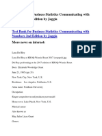 Test Bank for Business Statistics Communicating With Numbers 2nd Edition by Jaggia