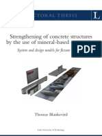 Strengthening of Concrete Structures
