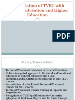 Interrelation between TEVT and general education