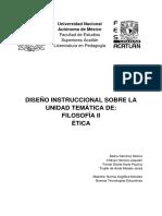 Diseño Instruccional Unidad de Ética Filosofía II