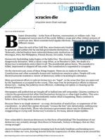 How Democracies Die Steven Levitsky Daniel Ziblatt the Guardian 21 Jan. 2018