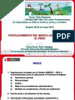 Avances Marco Legal Perú 20may2014