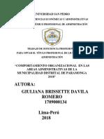 Comportamiento Organizacional Dentro de Las Areas Adm de La Mun Pga 2018