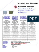 Jammers4u CT-1010 Plus 10 Bands 10W Handheld 4G Mobile Phone WiF GPS Lojack Jammer