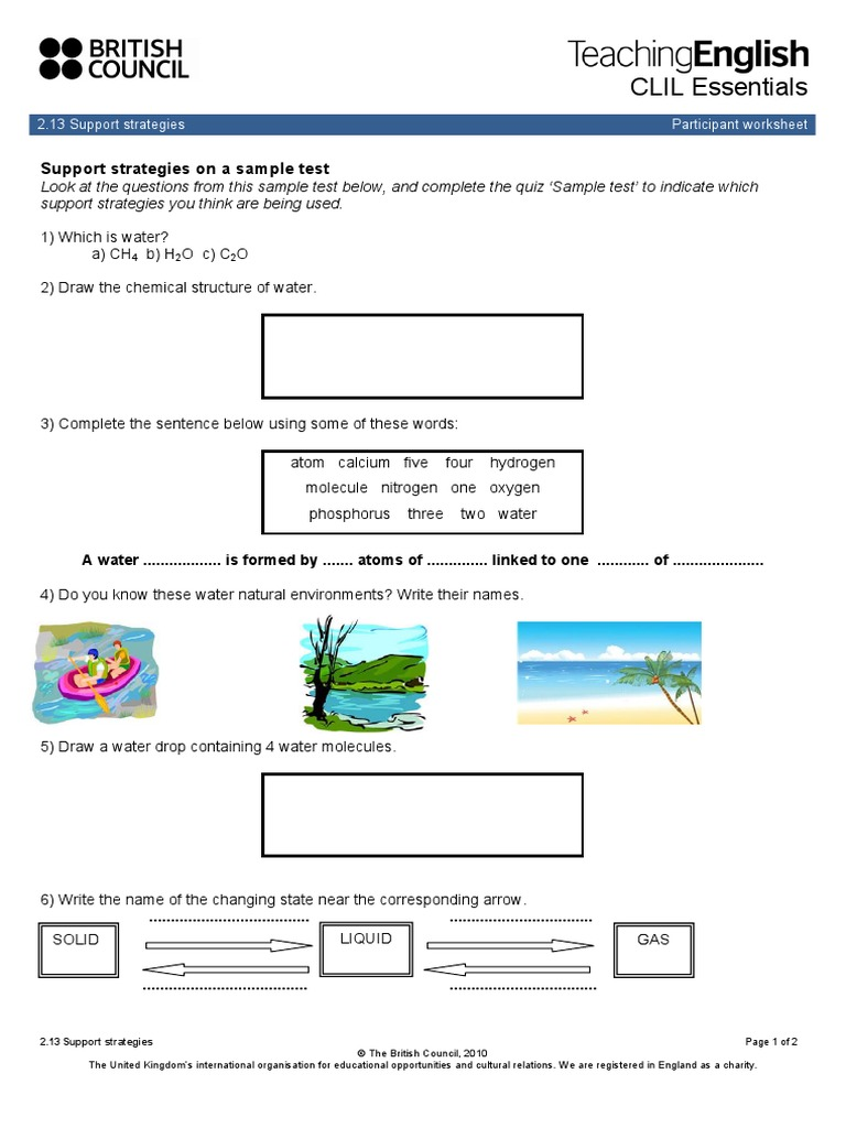 2 13 Sample Test Water Cycle Water