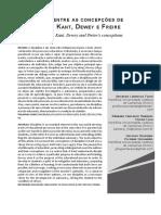 Kant, Dewey e Freire